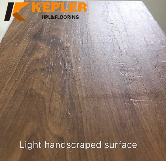 Light Handscraped Surface WPC Flooring